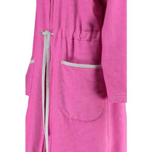 Cawö 4472–Albornoz de mujer de terciopelo 2311, 100 % algodón, medium