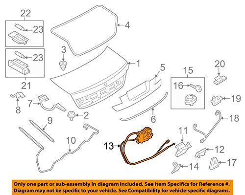 BMW 51-24-7-191-213 Trunk Lid Power Lock Drive by BMW (Image #3)