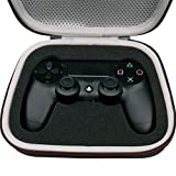 LTGEM EVA Hard Case Travel Carrying Portable Storage Bag for DualShock 4 Wireless Sony PS4 Controller with Mesh pocket Fits Plug & Cables