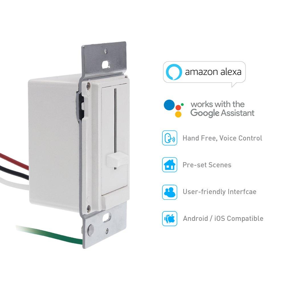 Quotra Wireless Smart Dimmer Zigbee Light Switch Dimmable