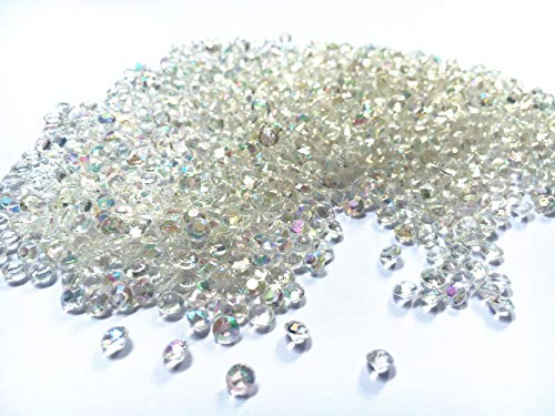 4.5mm 2000 pcs Acrylic Color Faux Round Diamond Crystals Treasure Gems for Table Scatters, Vase Fillers, Event, Wedding, Arts & Crafts (AB Clear)