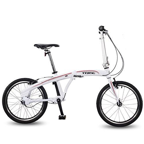 SF325 20インチノーチェーンロードバイク、3スピード高精度シャフトドライブ、男性と女性のための高速折りたたみ自転車、ダブルVブレーキ B079PW9HM9白