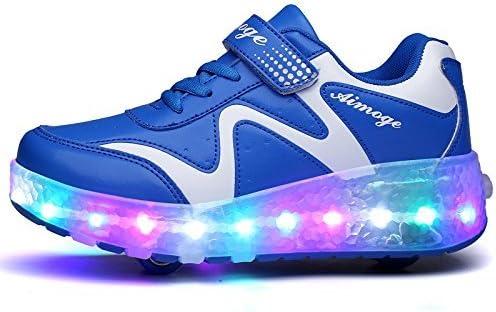 AGoGo Roller Skates Shoes Girls Boys Roller Shoes Kids Wheel Shoes Roller Sneakers Shoes with Wheels for Kids