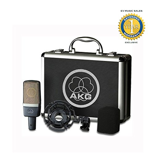 l large-diaphragm condenser microphone with 1 Year Free Extended Warranty (Akg Large Diaphragm Condenser Microphone)