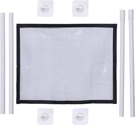 Balacoo malla de reja de seguridad plegable para puerta de perro para uso interior de puerta de escalera interior (negro) 100x75cm: Amazon.es: Bebé