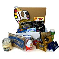 Social Distancing Survival Kit, Includes Candies and Snacks, Games, Party Supplies, Activities for Kids, Self Care Items, and More, Beyond a Snack Box or Candy Box, Gift Pack for Family or Friends