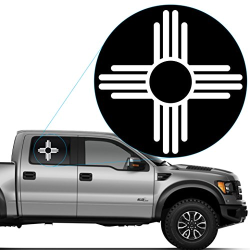 Yoonek Graphics New Mexico Flag logo Decal Sticker for Car Window, Laptop and More. #573 (12