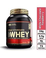 Optimum Nutrition Gold Standard Whey Proteïnepoeder spieren Building supplementen with glutamine and Amino Acids, White Chocolate