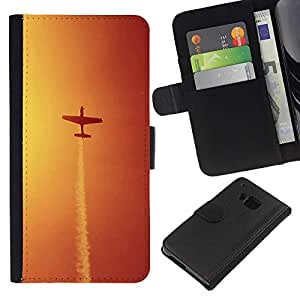 Ihec-Tech / Flip PU Cuero Cover Case para HTC ONE M7 - Aircraft maneuvers