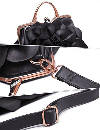 Noir pour Noir WORLD BESTURN 9156 femme Hei Noir BEST Pochette Handbag n4wqaaX1x