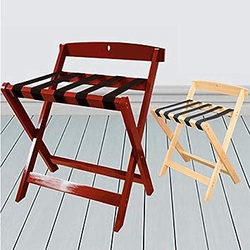 Color : Wine Red, Size : 60 * 50 * 65cm Wzhjf-jfh Portaequipajes multifunci/ón portaequipajes Plegable Adecuado for Habitaciones de Hotel portaequipajes de Viaje de Hotel