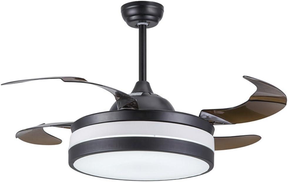 Grupos de iluminación moderno negro plegable ventiladores de techo con luces mando a distancia 42 inch retráctil Ventilador de techo luz Deckenventilator salón hogar decoración plegable ventilador de techo lámpara: Amazon.es: Bricolaje