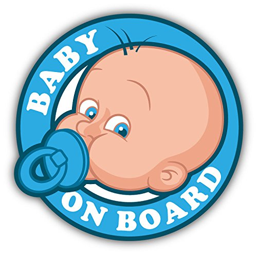 Baby On Board Sign Car Bumper Sticker Decal 5' X 5' Paradice