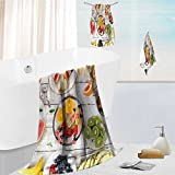 Leighhome Premium quality 100% Cotton Super Soft fruits background healthy diet eating top view Uber Absorbent and Fluffy 3 Piece Towel Set