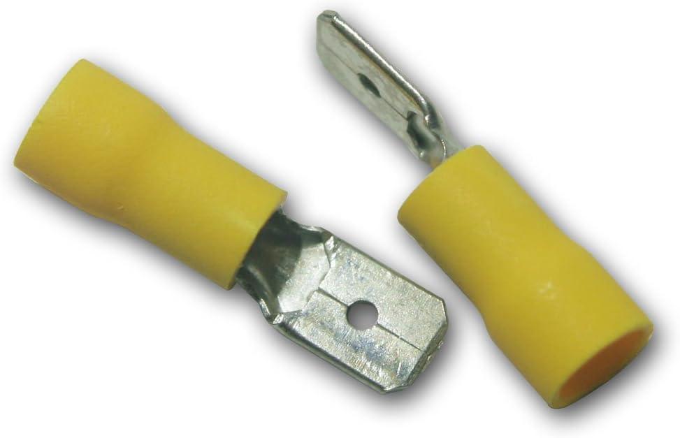 World Trading Net 10 X Flachstecker Gelb 6 3x0 8mm Elektronik