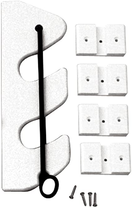White Taco P03-132W 2-Rod Poly Bungee Rod Holder Rack
