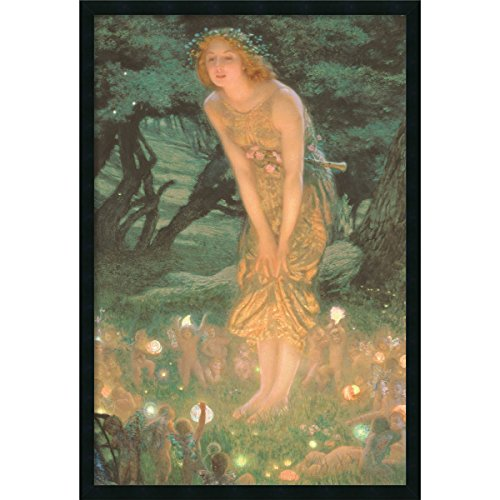 Framed Art Print, 'Midsummer Eve' by Edward Robert Hughes: Outer