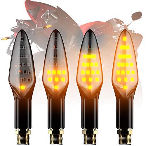 Ccautovie ledknipperlicht voor de motorfiets, E-gekeurd, universeel ledknipperlicht, dagrijverlichting, amberkleurig, E4