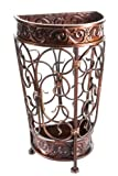 Brelso Super Quality Umbrella Stand, Umbrella Holder, Antique Look Metal, Entry Hallway Décor, Wallside Style, w/Removable Drip Tray (Mahogany)
