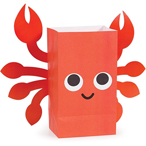 """Pack of 96 Juvi French Bull Ocean Paper Treat Bags with Attachments 8.5"""" by Party Central (Image #3)"""
