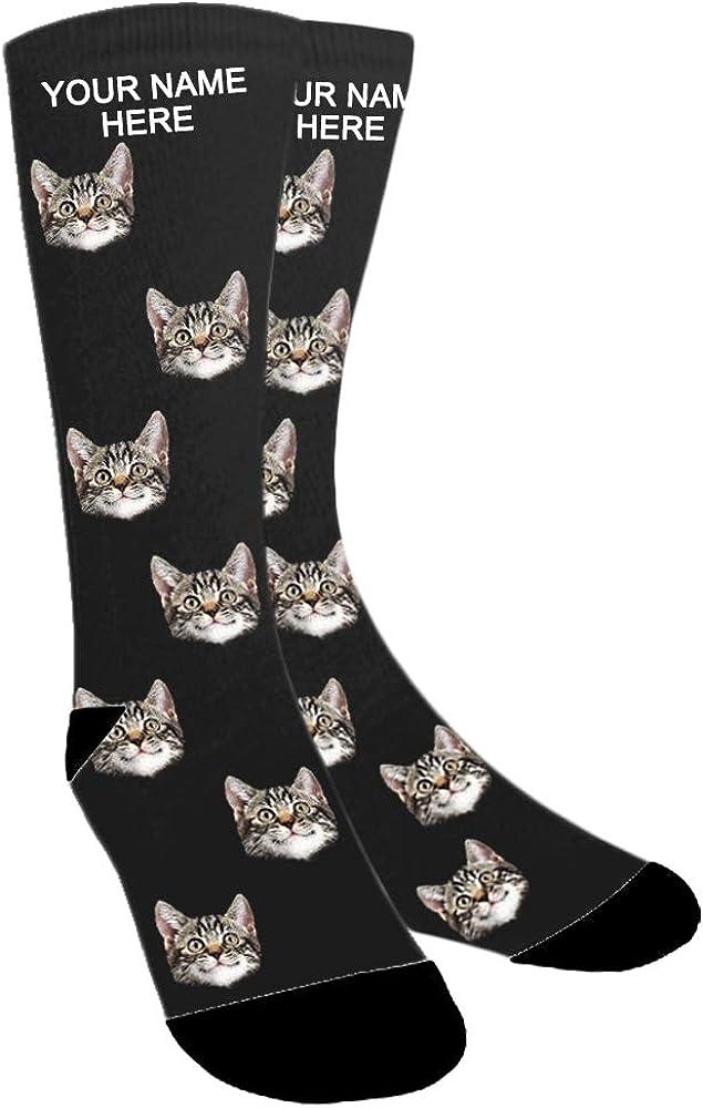 cumplea/ños ABIsedrin Calcetines personalizados d/ía de Navidad calcetines divertidos hombre regalo del d/ía del padre
