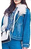 WSPLYSPJY Women Thick Faux Fur Parka Hooded Coat Winter Jacket Detachable Fur Trim 1 S