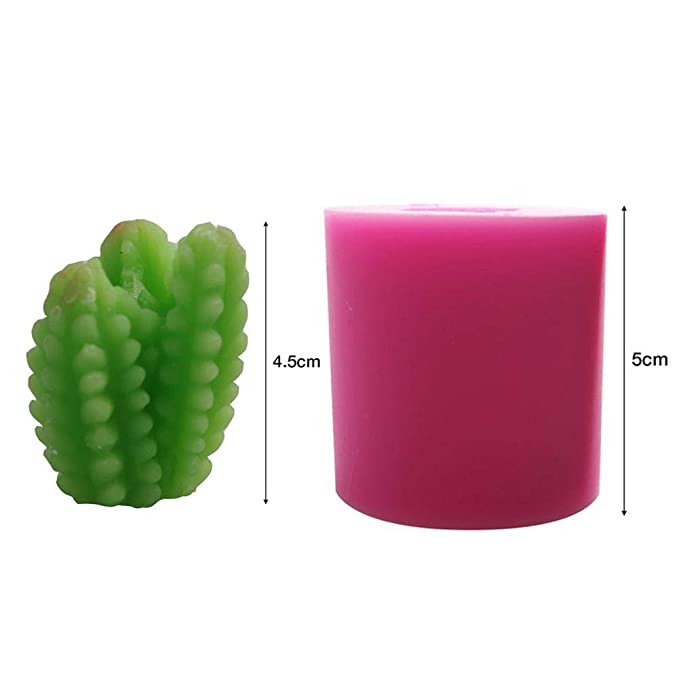 Dylandy 2/x stampo in silicone piante grasse DIY stampo fondente decorazione a mano sapone stampo