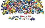 "100 ~ Transportation Theme Foam Stickers ~ Approx. 1.25"" to 2"" ~ New ~ Bike, Car, Plane, Helicopter, Train, Motorcycle, Boats, Truck"