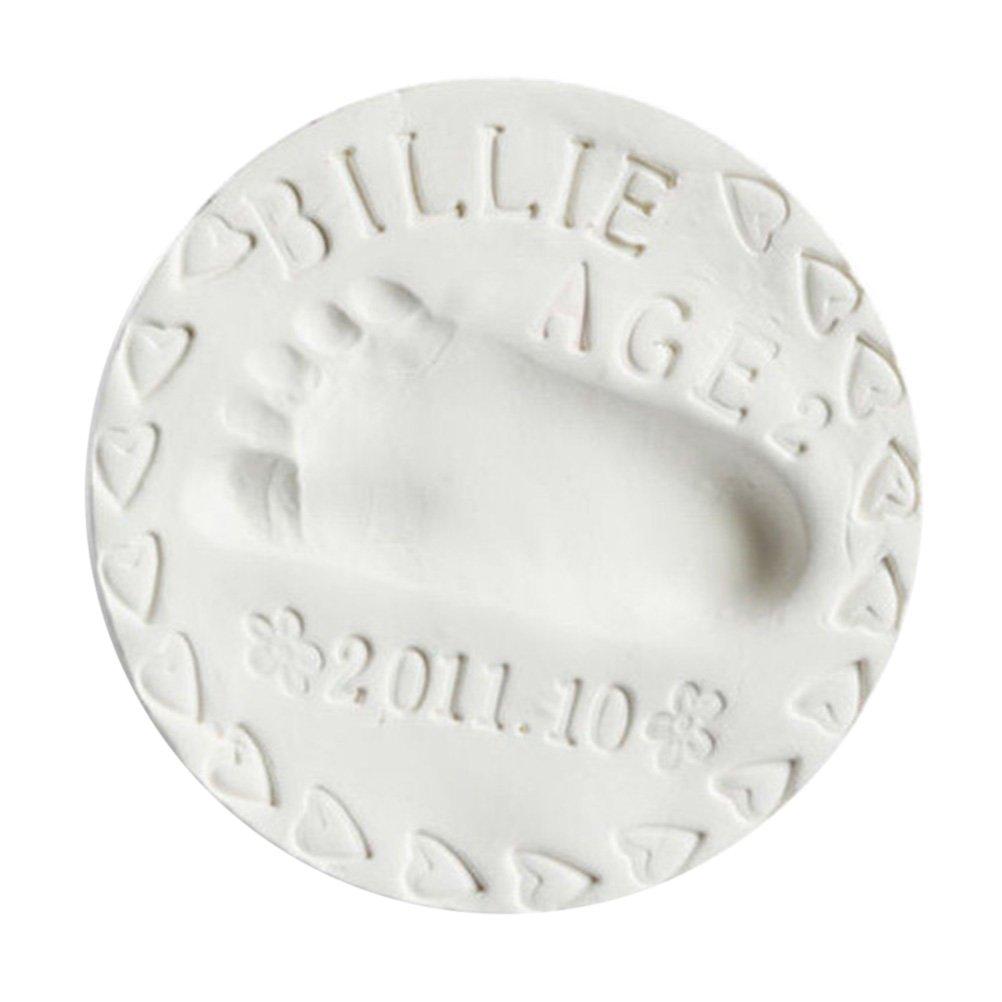 BESTOMZ Impresi/ón de Huella de Ni/ño Molde de Pie para Beb/é Reci/én Nacido Infantil Memoria Regalo Blanco