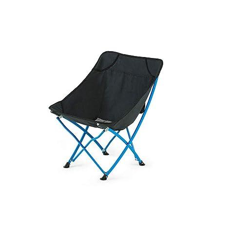 ZCF Conveniente espacio de almacenamiento silla plegable al ...