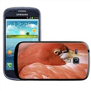 Fancy A Snuggle - Carcasa rígida para Samsung Galaxy S3 Mini i8190, diseño de cabeza de flamenco