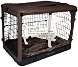 Pet Gear 30-Pound The Other Door Deluxe Steel Crate for Pets, 27-Inch, Chocolate
