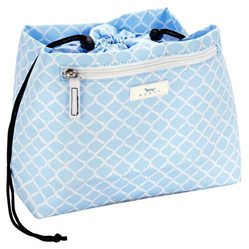 Scout Accessory - SCOUT GLAM SQUAD Makeup Bag, Water-Resistant Makeup Pouch and Toiletry Bag for Women with Drawstring Closure and Zipper Compartments (Multiple Patterns Available)