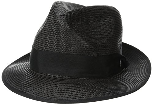 Florentine Black Finish (Stetson Men's Latte Florentine Milan Straw Hat, Black, 7.625)