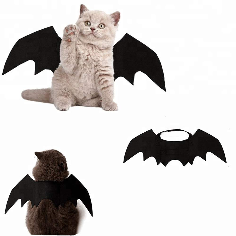 Atimier Halloween Pet Bat Wings Cat Dog Bat Costume Pet Dog Bat Wings
