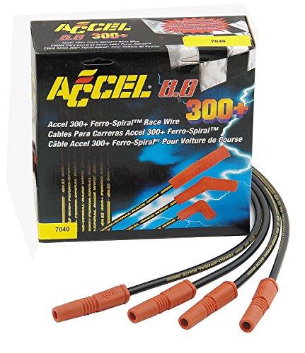 ACCEL 7040 8.8mm 300 + Race Wire Universal Fit Set - Black
