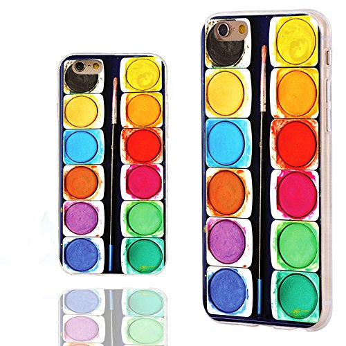 iPhone 6s Case,iPhone 6 Case,ChiChiC 360 Full Protective Shockproof Slim Flexible Soft TPU Art Design Cover Cases for iPhone 6 6s 4.7 Inch,funny colorful watercolor paint box