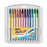 BIC Mark-It color collection permanent marker, Fine Point, Assorted Colors, 36 Markers Color: Assorted Size: 36-Count Model: BICGXPMP361ASST Office Supply Store