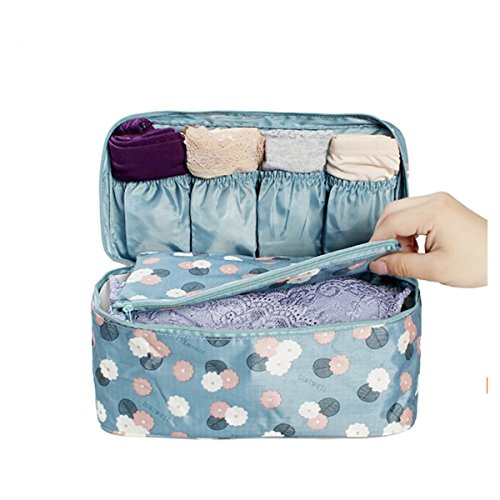 CH Elegant Wine Red Flowers Travel Bag Women Underwear Finishing Package Bra Storage Bag (Color2)