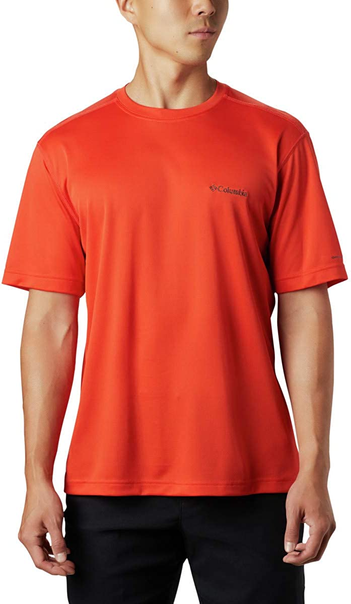 Columbia Men's Meeker Peak Short Sleeve Wicking UPF 15 Crew Shirt