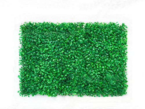 6 color Artificial Boxwood Topiary Hedge Faux BUXUS Plant Privacy Fence Screen Greenery Panels for Outdoor Indoor, garden backyard Wall and home decor (12, light green) by 6COLOR BOXWOOD HEDGE 60*40CM