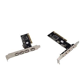 P Prettyia 2 Pieza Tarjeta USB 2.0 PCI Expansión 32bit Accesorios de Ordenador Herramienta Fácil de Usar