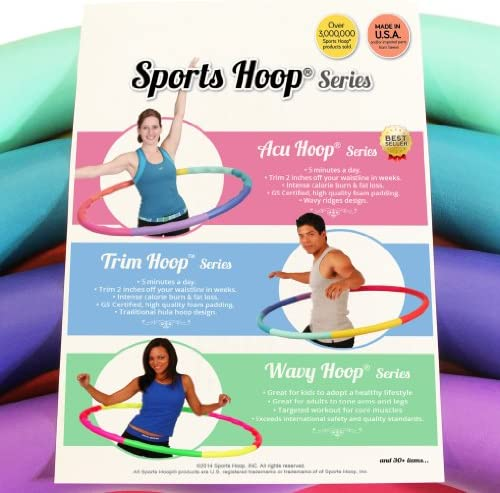 Sports Hoop Weighted Hoop, Weight Loss ACU Hoop 3L - 3.3lb (41 inches Wide) Large, Weighted Fitness Exercise Hula Hoop 5