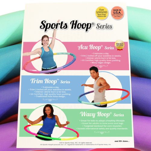 Weight Loss Sports Hoop Series: Acu Hoop 3L - 3.3lb (41 inches wide) Large, Weighted Fitness Exercise Hula Hoop (40 minutes Workout and Lesson DVD Included)