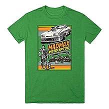 Mad Max Interceptor | L Heathered Kelly Green T-Shirt