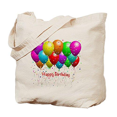 CafePress Happy Birthday globos–Gamuza de bolsa de lona bolsa, bolsa de la compra