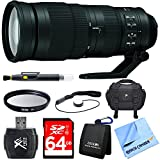 Nikon 200-500mm f/5.6E ED VR AF-S NIKKOR Zoom Lens for Digital SLR Camera Bundle includes 200-500mm NIKKOR Zoom Lens, 95mm UV Filter, 64GB SDXC Memory Card, Deluxe Bag, Beach Camera Cloth and More!