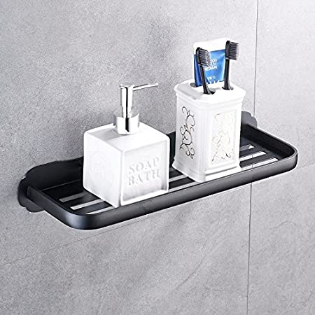 TougMoo Bathroom shelf, black bathroom rack, bathroom washing table ...