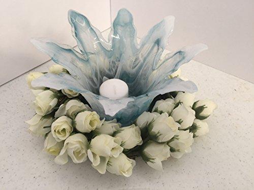 ement- Murano Glass - Mini White Roses ()