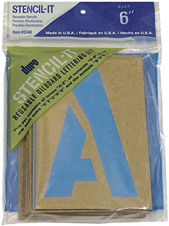 Graphic Productos pl/ástico Stencil-it Reutilizable Letras set-9-inch